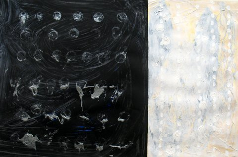 Eclips, Ed McCartan, acrylic on paper,42x28""